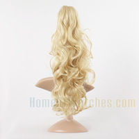 Synthetic Gold Curly Long Hair Ponytail (NWG0HE60468-GO2)