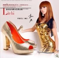 Free shipping women's shoes 2013 women's fashion on red platform pumps sexy high heels