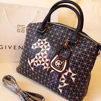 2012 plaid embroidery bags handbag messenger bag fashion bag