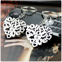 free shipping 20pcs Heart key chain heart couple key chain small gift accessories