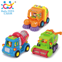 Free Shipping Huile 386 music   inertia toy car engineering harvestable clean car children educational toy