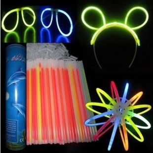"""100 pcs/lot 8"""" Multi color hot glow stick, led color flashing bracelet lighting flash sticks festival item"""