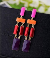 Free Shipping(min order 10$)2013 new fashion earring personalized luxury gem drop alloy Women earrings SJSP