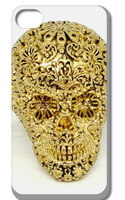 10pcs/lot new the floral skull style hard back case cover for iphone 5 5s 5G 5th free shipping