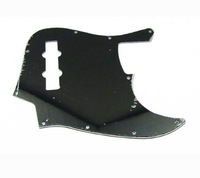 1pcs Plain Black Jazz Bass JB Style JB Pickguard 3Ply 10Hole M575