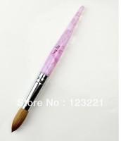 Free shippingnail art20# Acrylic Nail Art Brushes Pen Nail Brush 100% pure kolinsky For painting retail
