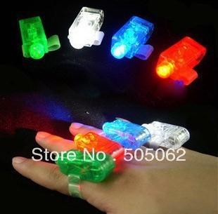 100pcs/lot Finger Lights finger ring magic beam laser lights party concert KTV supplies Toys LED Lights Free shipping