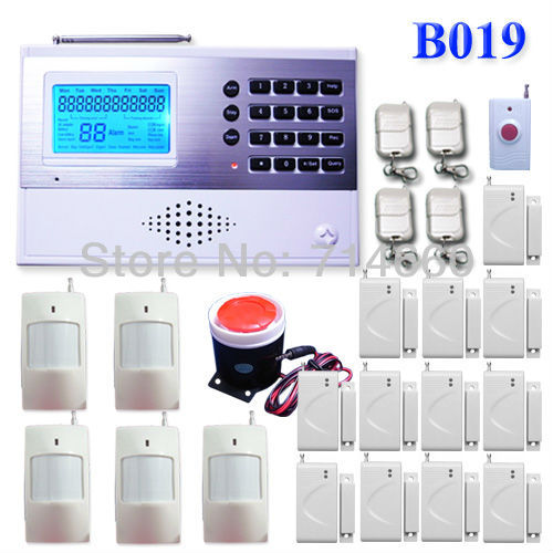 Wireless Home Alarm System w/ Auto Dialer 5 motion sensor 12 door alarms 1 siren 4 keychains 1 SOS button Safety Surveillance(China (Mainland))