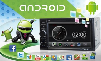 "6.2"" universal CAR DVD PLAYER GPS Android 2.3os CPU 1GB / DDR 512MB A8 Chipset Free map +Free shipping  high quality"