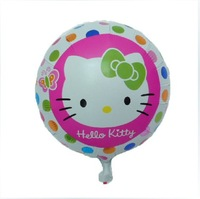 10pcs/lots 18 inch round shape hello kitty foil balloon ,cartoon helium balloon