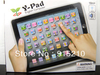 Wholesale-ABC English learning toys,YPad with Music and Led Light,Y Pad  English computer educational toys for children,6PCS/Lot