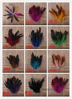 Multicolor glow green feather/DIY handmade DIY feather feather 10-14 cm/color feathers