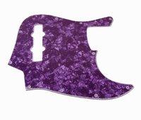 1pcs Jazz Bass JB Style JB Pickguard 3Ply Rare Purple Pearl Color M652