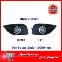 Free shipping with button and wires Fog Lamp FOR Ford Focus Sedan 2009~on