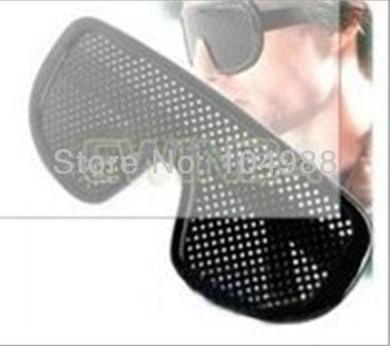 20 pcs Cheap Black Unisex Vision Care Pinhole Eyeglasses pinhole Glasses Eye Exercise Eyesight Improve plastic Free shipping