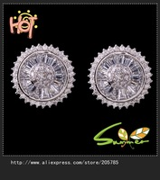 2013  display  jewelry earings 18K white Gold plated  Stud Earrings ,) Free shipping 1pair