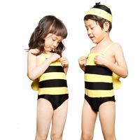 Child swimwear one piece of small bee swimwear male swimming trunks 1025