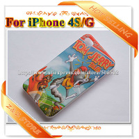 For iPhone 4 case New Designs TOM SPONGEBOB MICKEY Matte Plastic Phone cases for iPhone 4 20pcs/lot Freeshipping