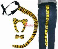 Animal supplies ears headband tiger hair pin bow tie piece set big 80cm