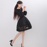 [LYNETTE'S CHINOISERIE - YHT ] Summer Autumn Plus Size Women Clothing -Cute Elegant Slim Lace Women Dress Sz S M L XL XXL XXXL