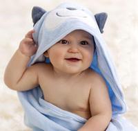 Child bath towel bathrobes cloak bamboo fibre baby hooded cartoon 100% plus size cotton newborn baby spring and autumn