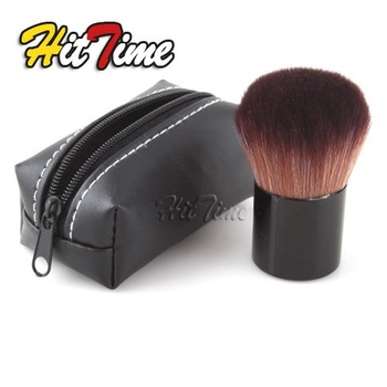 2013 Wholesale Fashion Convinient 1Pcs Pro Mushroom Blush Loose Power Brush Kabuki + Brand New Case #18995