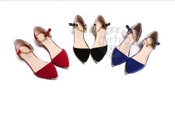 Free shipping new 2013 women's shoes spring Europe metal point low documentary shoes baotou sandals(China (Mainland))