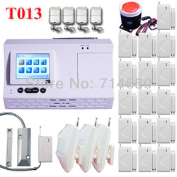 color LCD Wireless Home Security Alarm System w/ Auto Dialer 3 motion sensor 16 door contact 1 siren 4 keychain 1 roller sensor(China (Mainland))