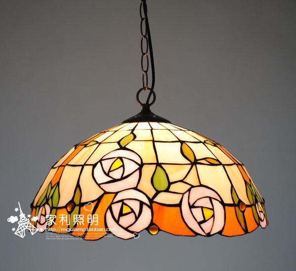 2012 tiffany pendant light lamps restaurant lamp pendant lamp Small rose(China (Mainland))