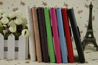 wholesale PU Leather Case with stand For samsung Galaxy S4  I9500  Wallet Case Free shipping