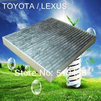 CUK1919 wholesale handmade black carbon car cabin air filter for Toyota 87139-YZZ08 auto part 21.3*19.5*2.9cm WIX24488
