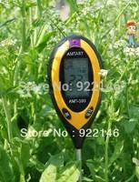 Free shipping Portable 4 in 1 Soil plant soil & moisture PH meter sunlight ,soil moisture ,temperature,soil pH tester KC300