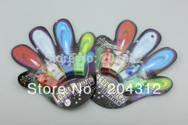 1000pcs/Lot Color LED Light Bright Finger Ring Party Fun Gadget Laser Beams Torch Wholesale(4pcs/pack)(China (Mainland))