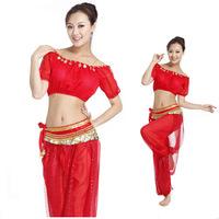 Belly dance clothes belly dance indian dance set costume lantern sleeve set