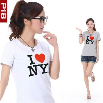 P18 lovers spring and summer short-sleeve women's men's T-shirt lycra cotton wya3033(China (Mainland))