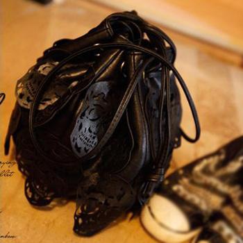 free shipping!!! Bag 2013 cutout female bags skull decoration O. P. bucket bag shoulder bag