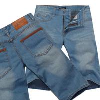 Ekecel2013 summer men's clothing fashion capris casual denim shorts knee-length pants male