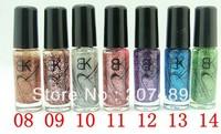 14 Colors 5ml Neon Nail liner brush line pen striping Art Polish Nail Varnish art decorations care beauty wholesale