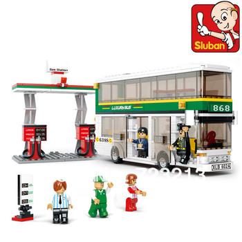 Free Shipping Sluban City Bus B0331 Building Blocks Sets 403pcs Legoland Educational DIY Bricks Toys Children Christmas Gift