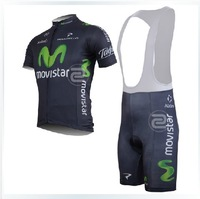 2013 Movistar Team Cycling Jersey and bib short ,XS-4XL