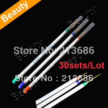 30sets/Lot Nail Art Drawing Pen Painting Dotting Brush Set   4392