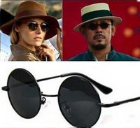 super star  round frame vintage retro men and women cool sunglasses 2013 hotsale old Shanghai Style