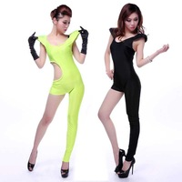 Sexy lingerie One piece fashion ds lead dancer clothing female singer Costume neon green jazz  Free shipping