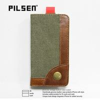 New arrival Retro design Pilsen Case For Iphone5 with Credit Card Real Leather Cases For Iphone 5 10pc/lot free DHL shipping