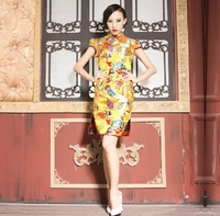 Cheongsam 2013 vintage bridal short design fashion damask robes 7001