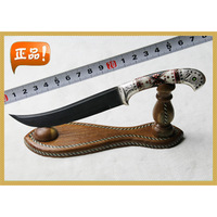 Crafts yengisar horn sheep bones pure silver handle bearing steel