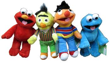 Sesame Street 4pcs Plush doll toy 20cm high cartoon figures elmo cookie monster bert erine