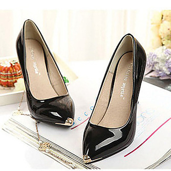 Dropshipping Shiny Classic Womens Pointy Toe Gold Cap Stilettos High Heel Pumps Shoes Sandals  XZY0054