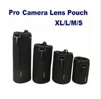 4pcs S+M+L+XL Size Neoprene camera DSLR Lens Soft Pouch Bag case