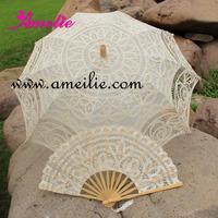 Belgian Bridal Umbrella And fan Lace Parasol
